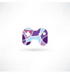 Game joypad icon vector