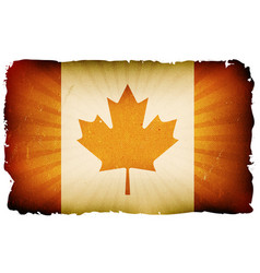 Vintage canada flag poster background vector