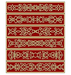Floral traditional celtic knot ornaments vector image
