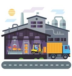 Warehouse building vector