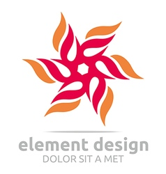 Logo abstract element design symbol icon vector