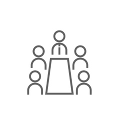 Business meeting in the office line icon vector