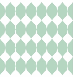 Tile mint green and white pattern vector