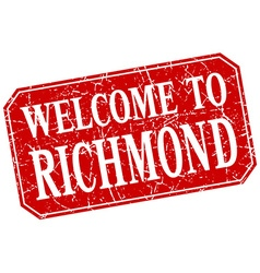Welcome to richmond red square grunge stamp vector