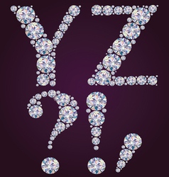 Alphabet of diamonds yz vector