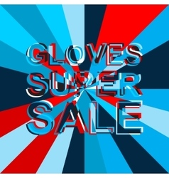 Big ice sale poster with gloves super sale text vector