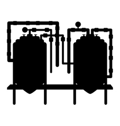 Black beer tanks icon image design vector