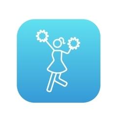 Cheerleader line icon vector image vector image