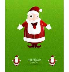 Christmas Card with Santa Claus vector image vector image