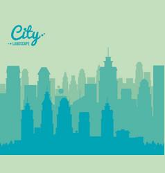 city landscape skyscraper building urban design vector image vector image