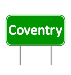Coventry road sign vector image