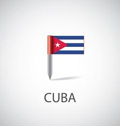 Cuba flag pin vector