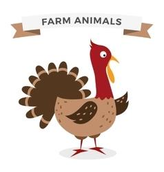 Cute cartoon turkey vector