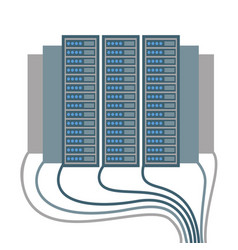 Data centre icons of cables and blocks vector