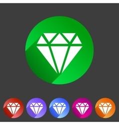 Diamond icon flat web sign symbol logo label vector