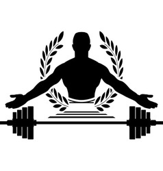 glory of bodybuilding vector image