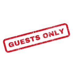 Guests Only Text Rubber Stamp vector image vector image
