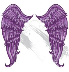 hand drawn tattoo style wings vector image vector image