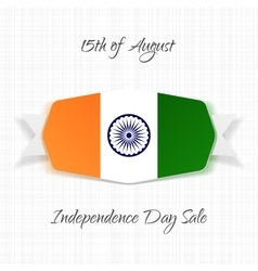 India independence day realistic label vector