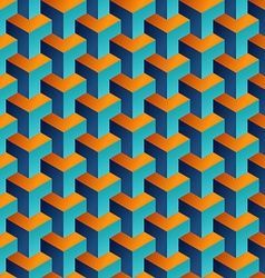 Isometric 3d shapes seamless pattern background vector image