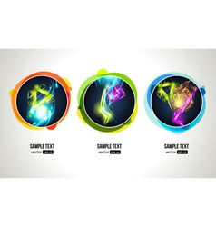 Light Effect in Round Frames vector image vector image