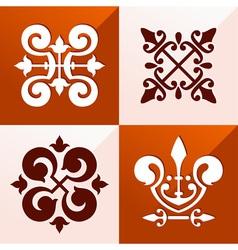 Medieval emblem ornament vector