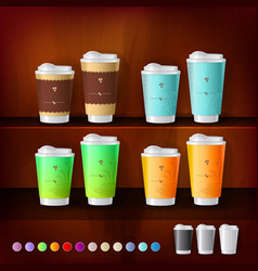 Mockup template for branding and product designs vector