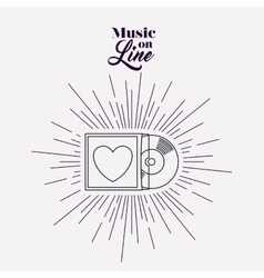 music on line design vector image