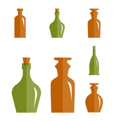 old retro medicine bottle icon vector image