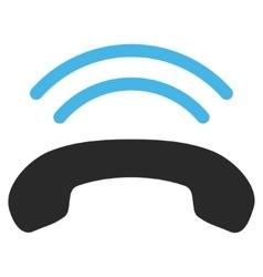 Phone ring flat pictogram vector
