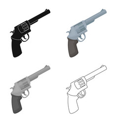 pocket revolver the weapons detective for vector image vector image