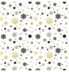 Seamless white christmas wallpaper with black and vector