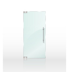 transparent clear glass door isolated on white vector image vector image