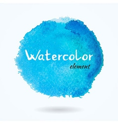 Watercolor bright blue element vector