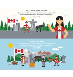Welcome to canada banners vector