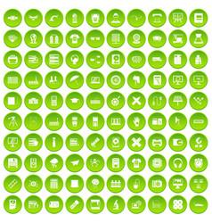 100 printer icons set green circle vector