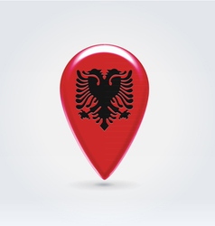 Albanian icon point for map vector