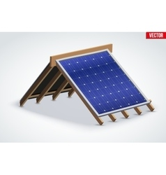 Icon roof with solar panel cover vector