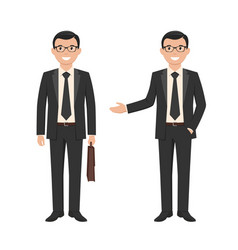 a young businessman vector image