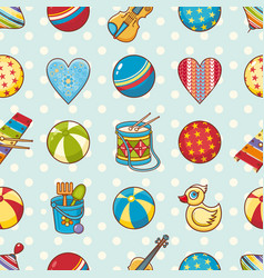 Kid toy seamless pattern design element for vector