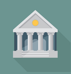 bank flat vector image