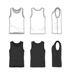 Set of male undershirt vector