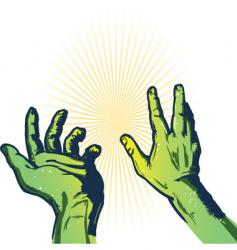 Hands of fear illustration vector