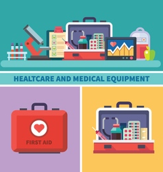 Health care and medical equipment vector