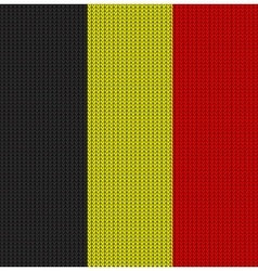 Knitted flag of belgium vector