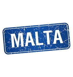 Malta blue stamp isolated on white background vector