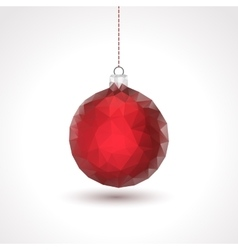 Triangle xmas ball background vector