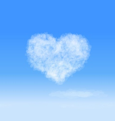 Heart cloud vector