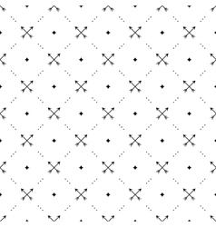 Seamless black pattern with crossed arrows vector