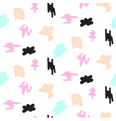 Abstract pastel color strokes seamless pattern vector